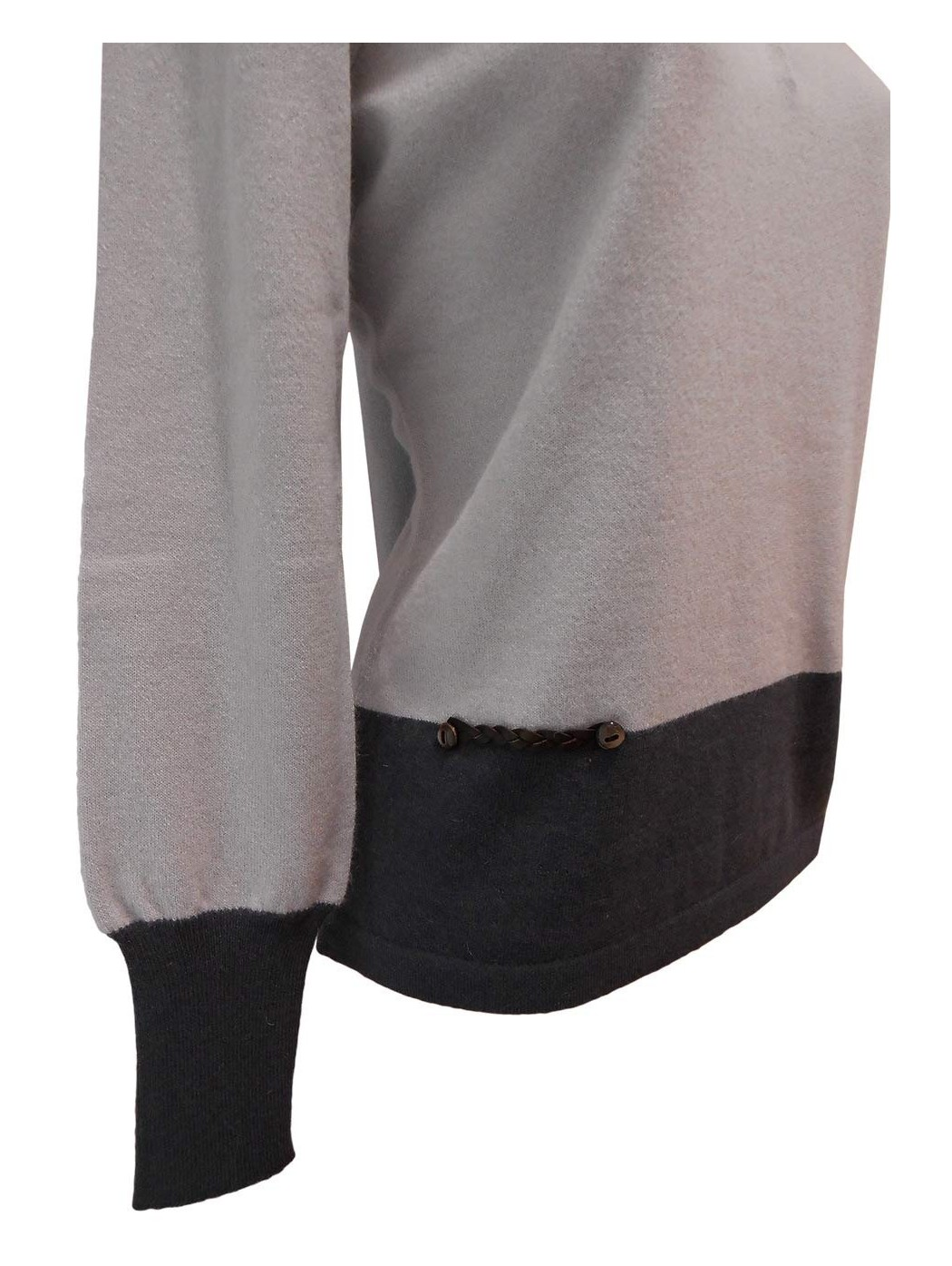 Polo lana bicolore