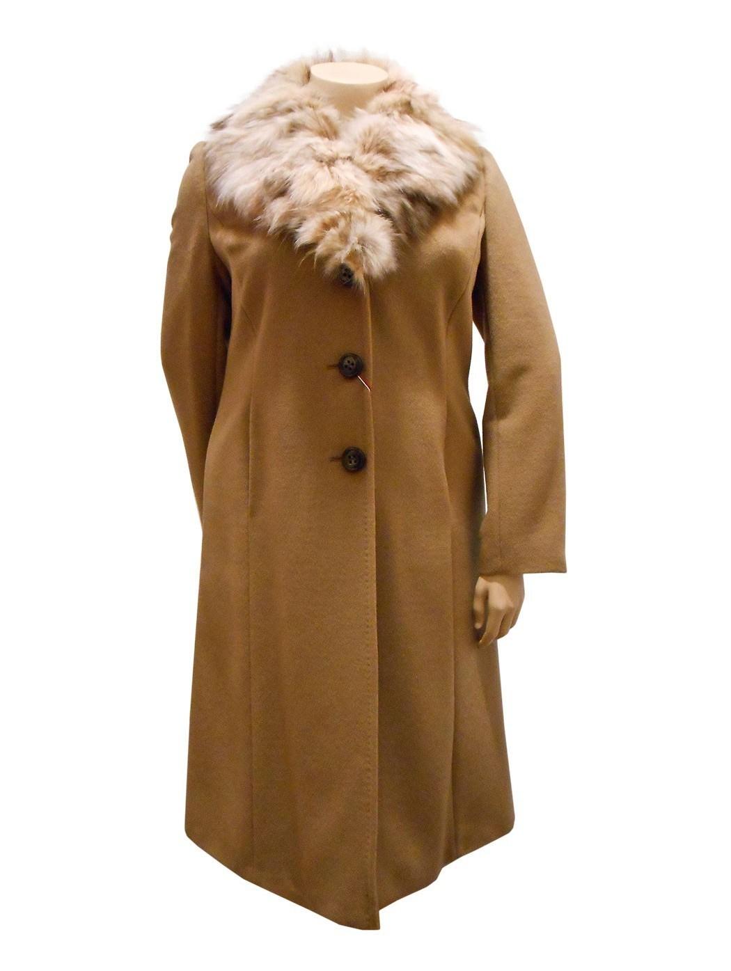 Cappotto lana collo pelliccia Hella