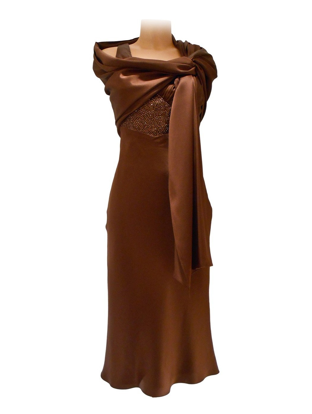 Атласное платье лука Джордани