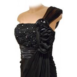 Eine Schulter langes Kleid Sonia Peña