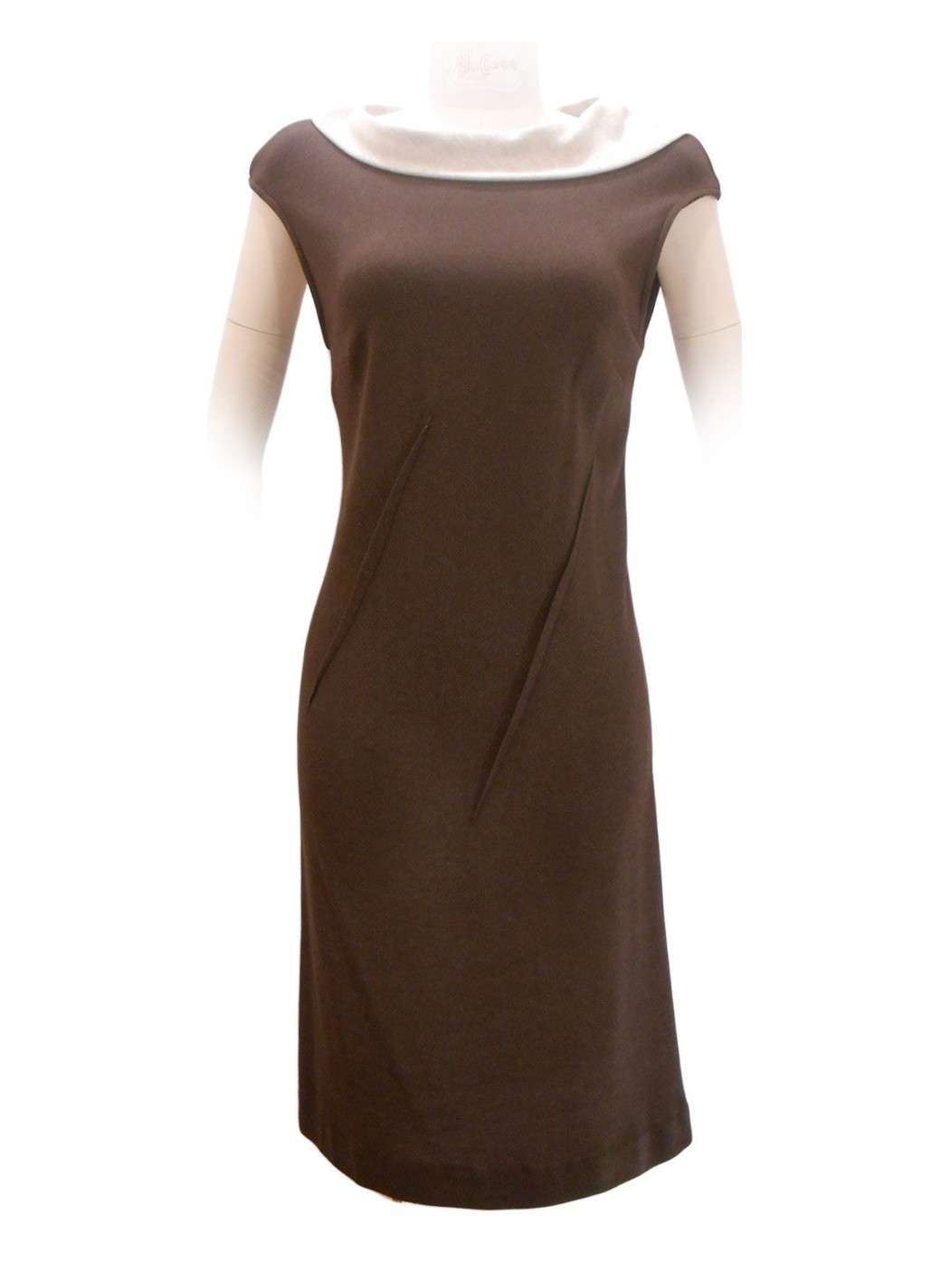Two-coloured sheath dress