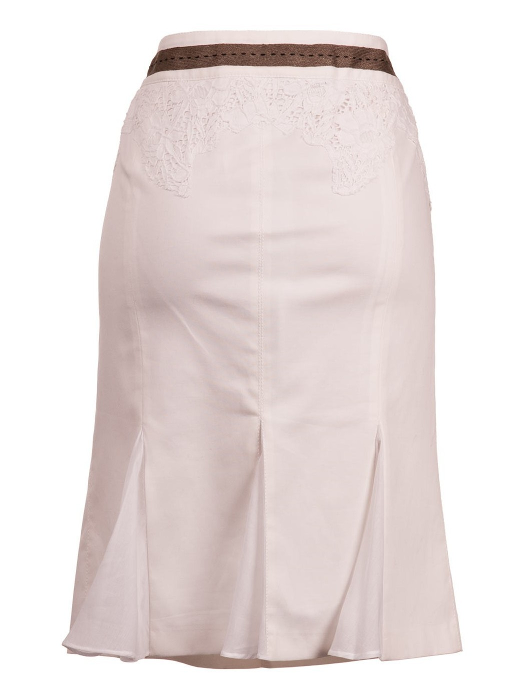Skirt with lace inserts