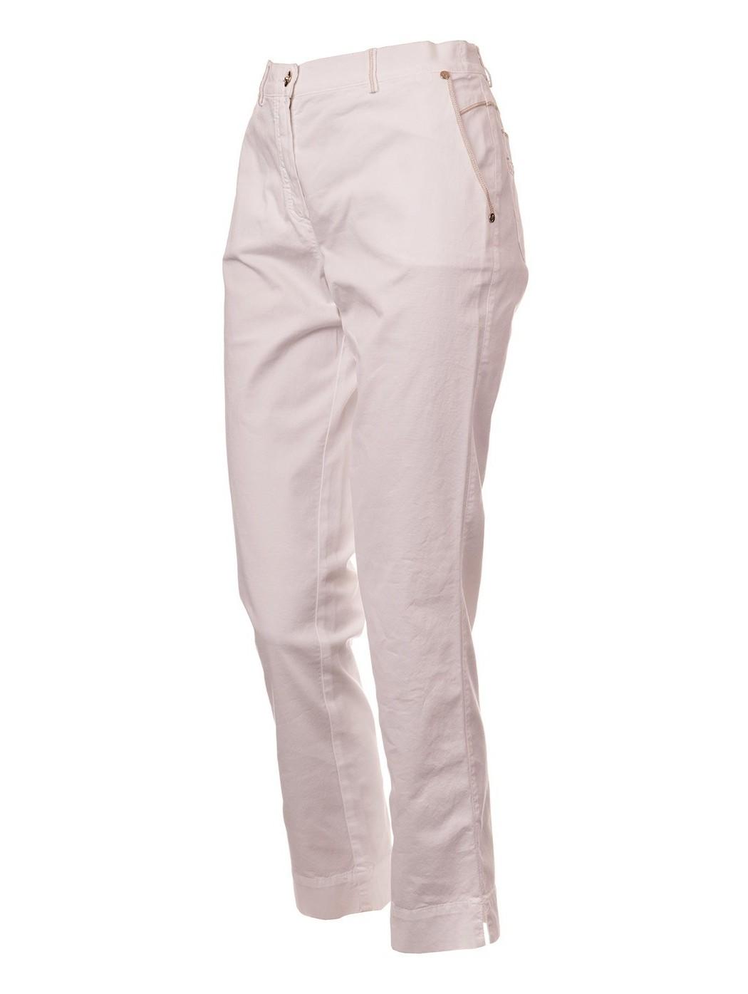 Spodnie Capri Pucci białe