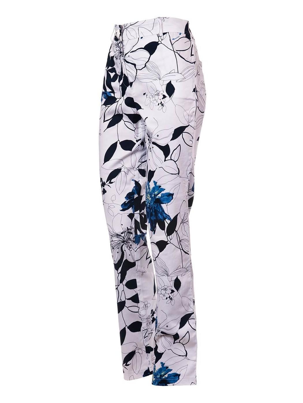 Pantalone fiori Luca Giordani