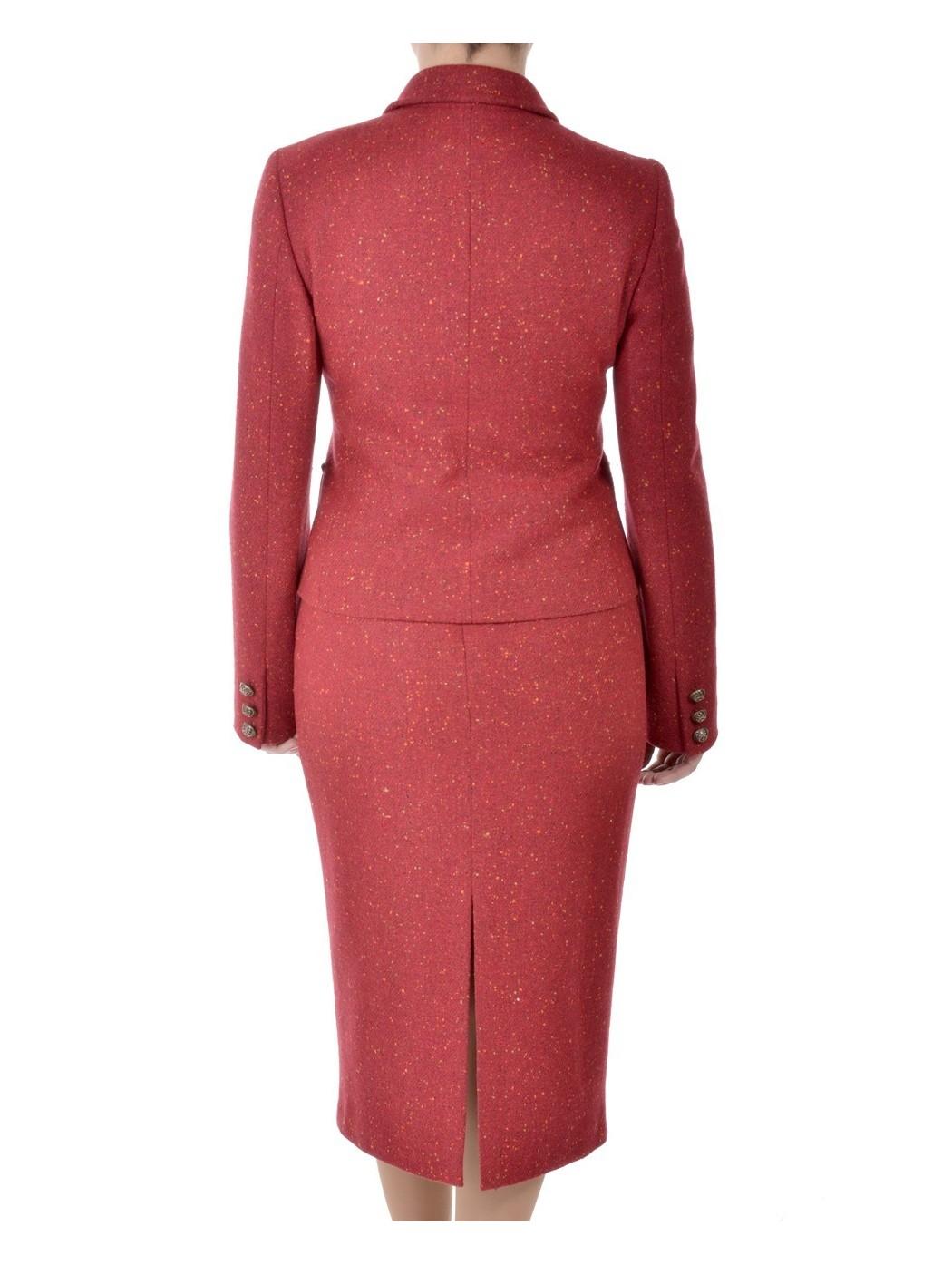 Tailleur tweed rosso Hella
