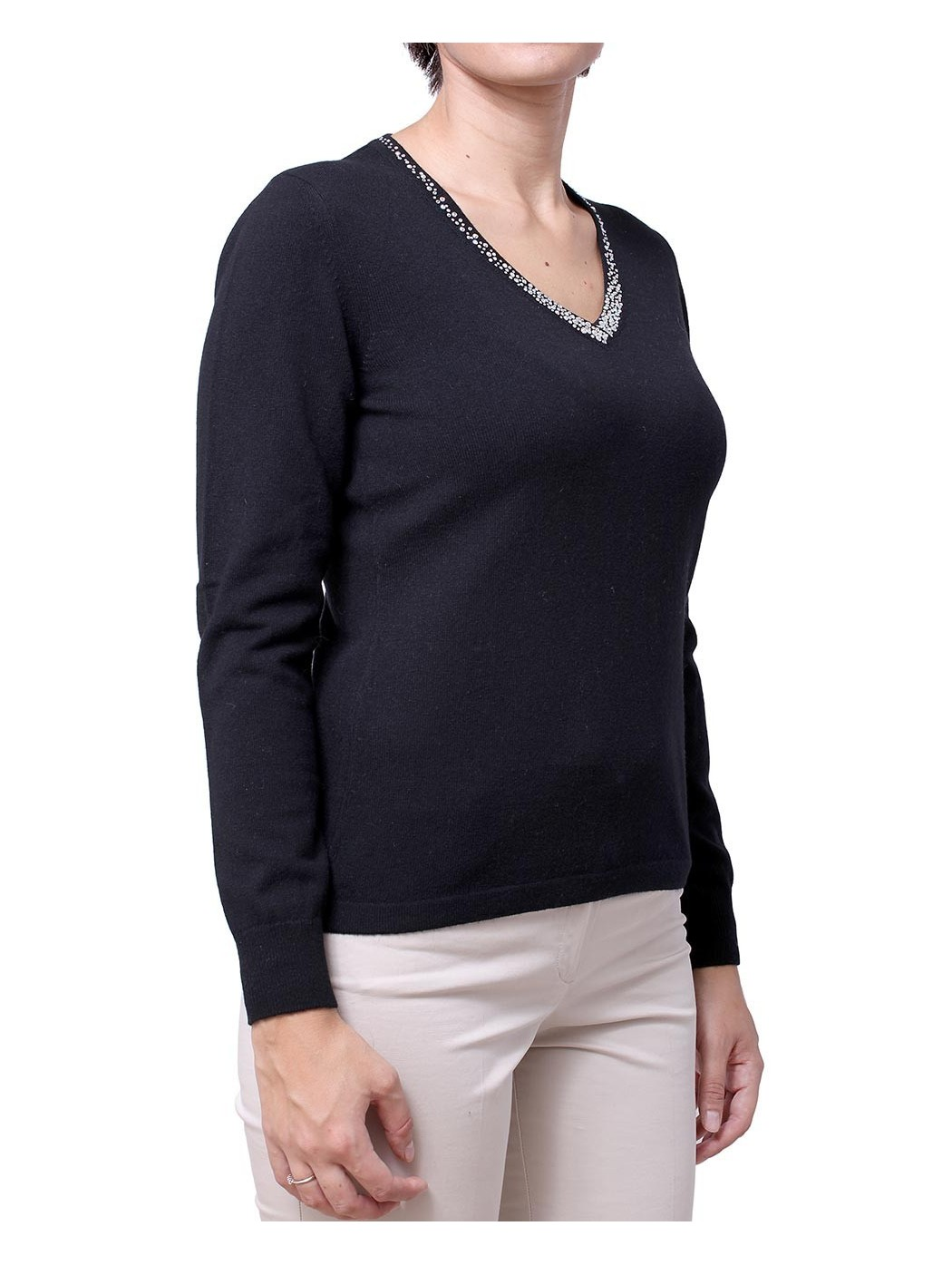 Swarovski v-neck sweater