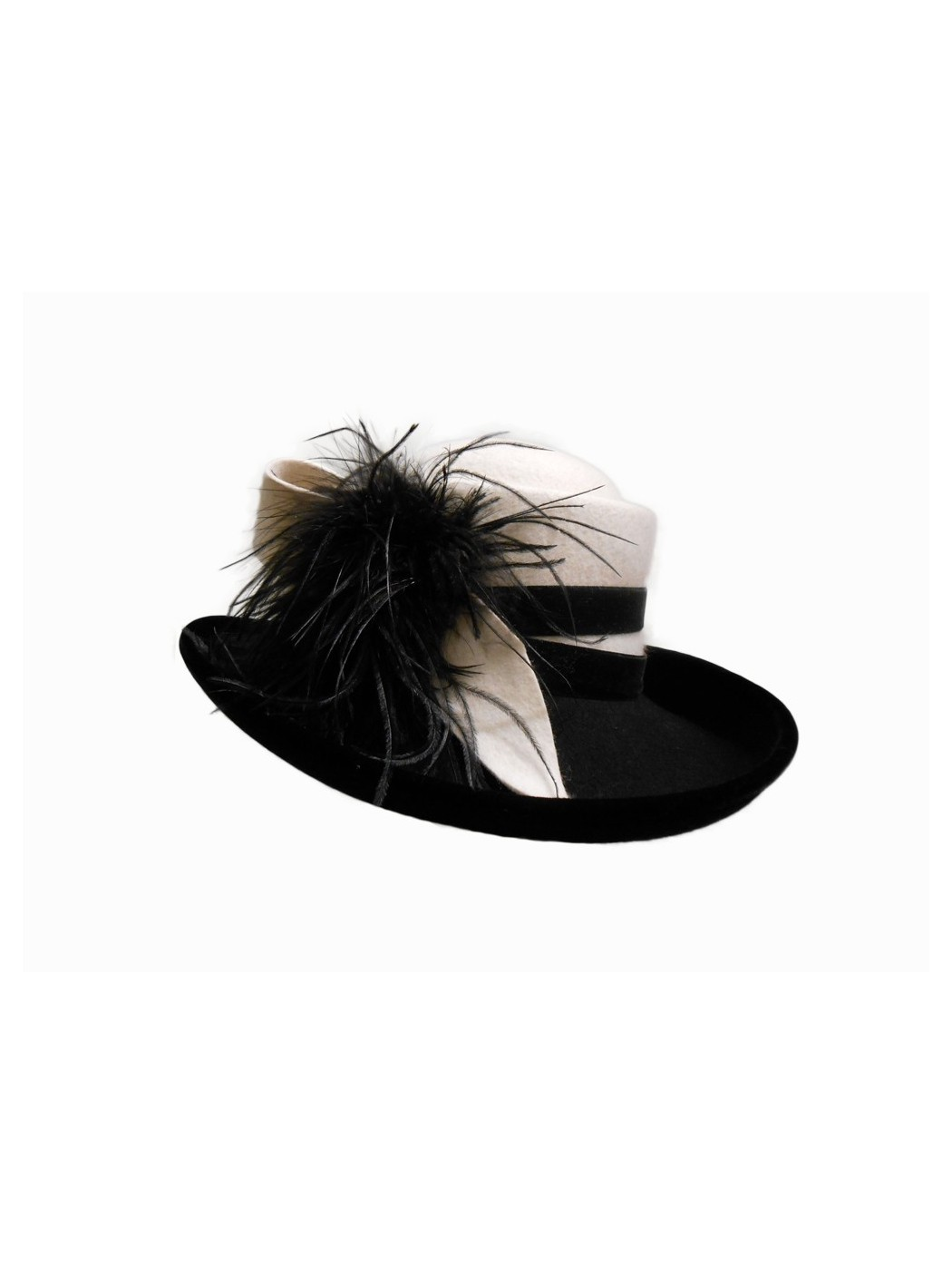 Black and white wool hat