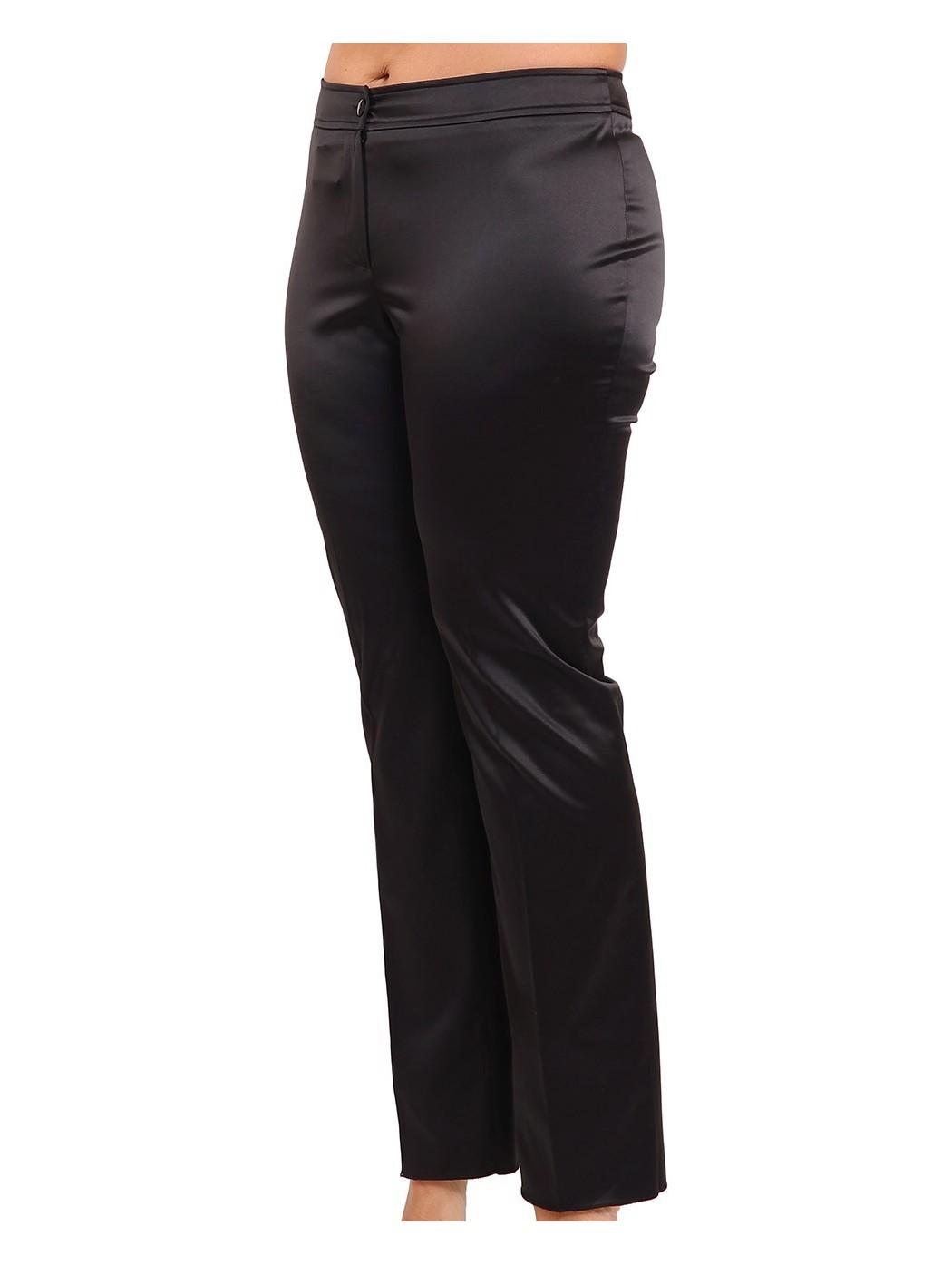 Pour le pantalon de satin noir vente 71dd1461c146