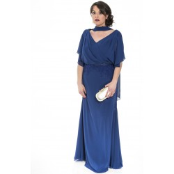 Sonia Peña royal blue long dress