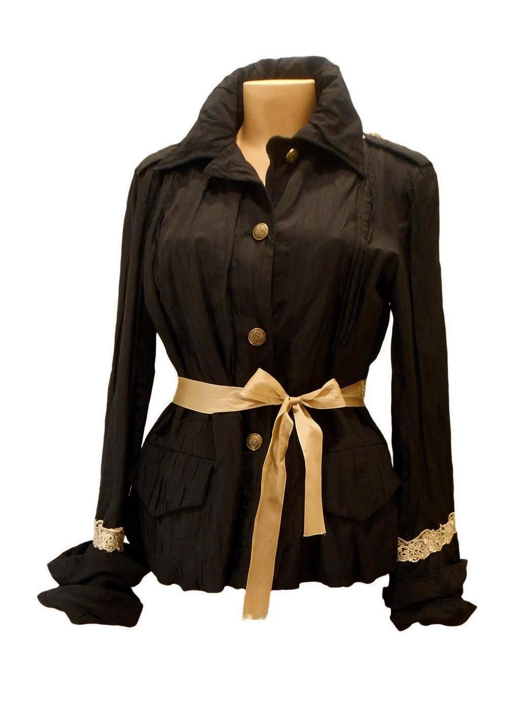 Giacca elegante nera e beige