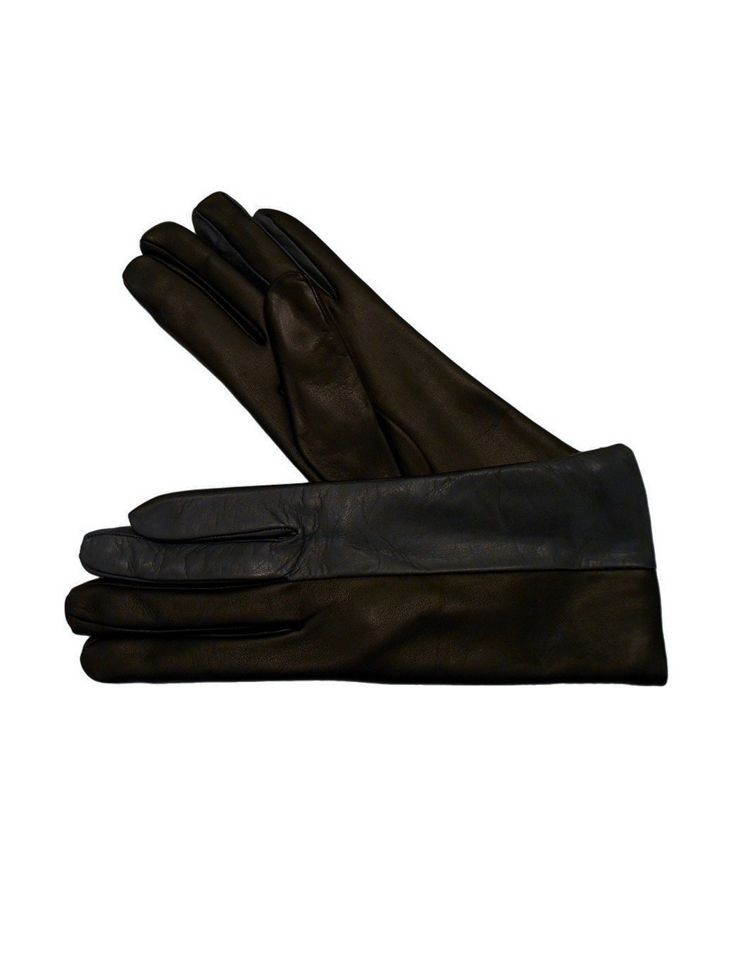 Two-coloured leather gloves