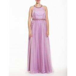 Sonia Peña pink mesh dress