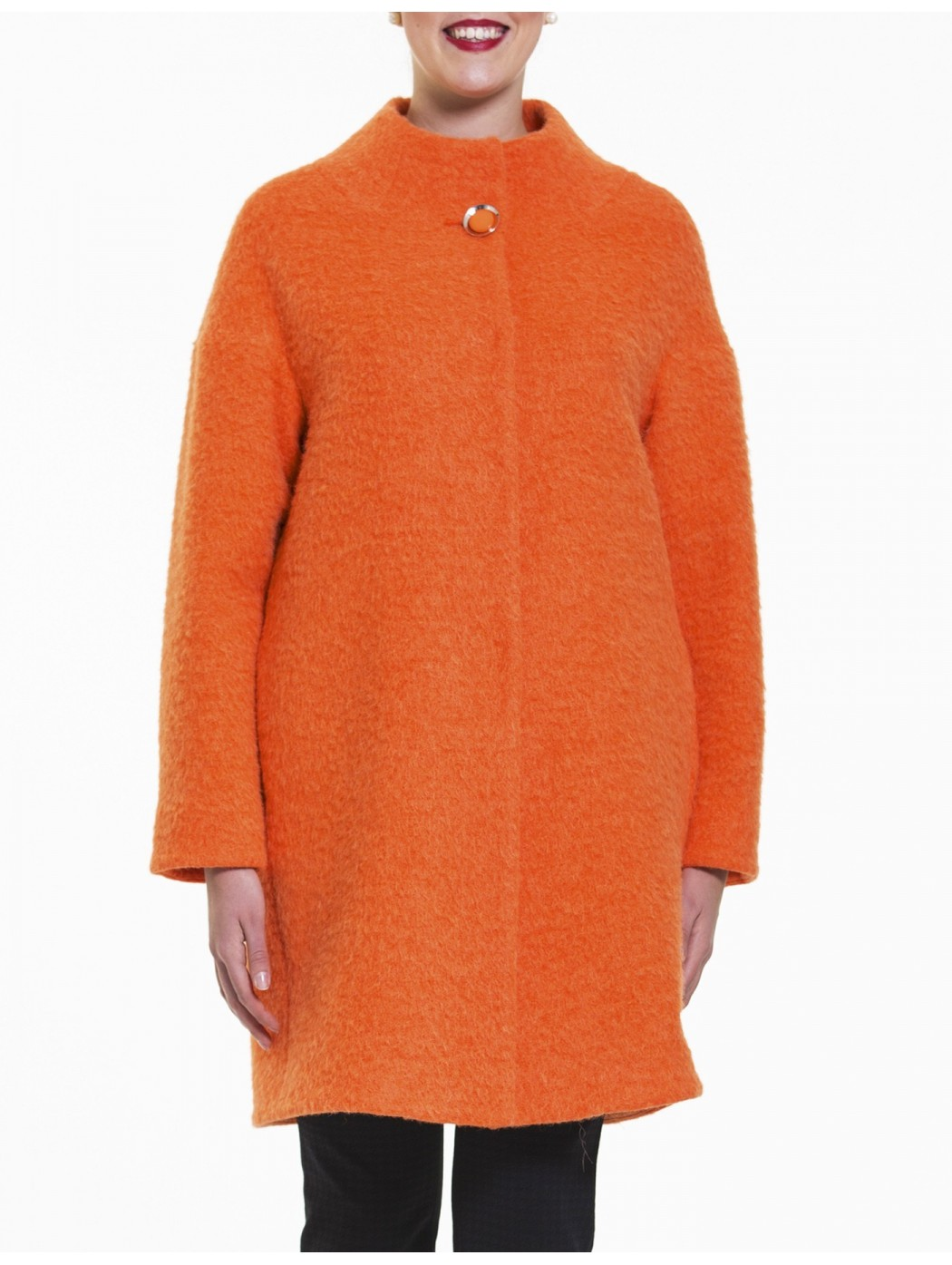 Cappotto arancio Laura Caponi Soft Couture