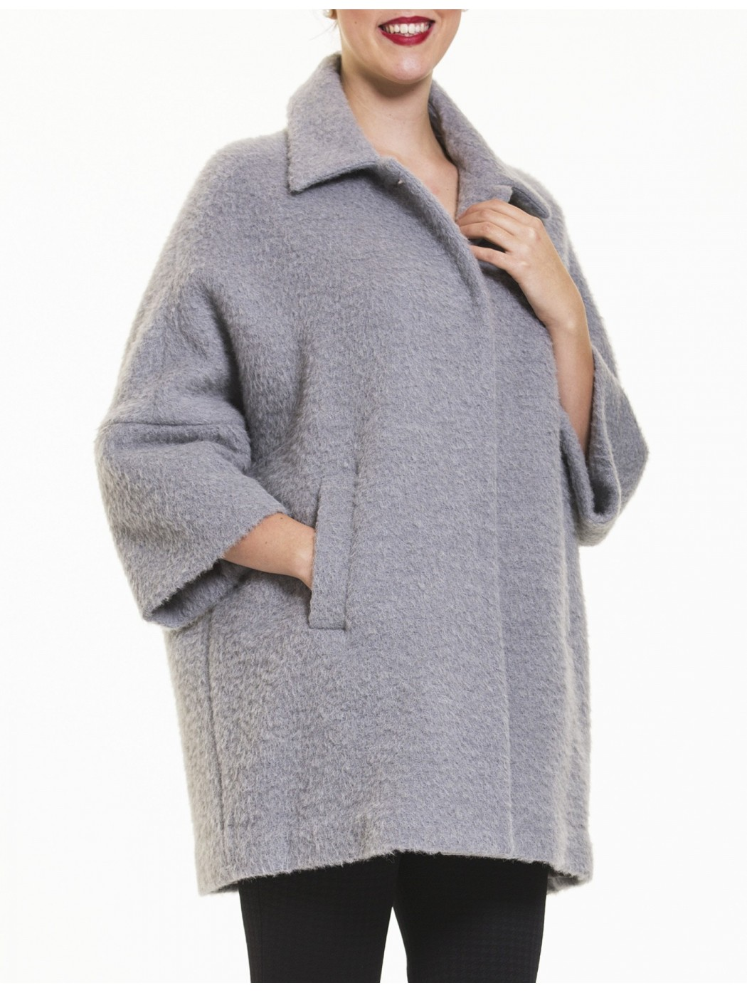 Cappotto grigio perla Laura Caponi