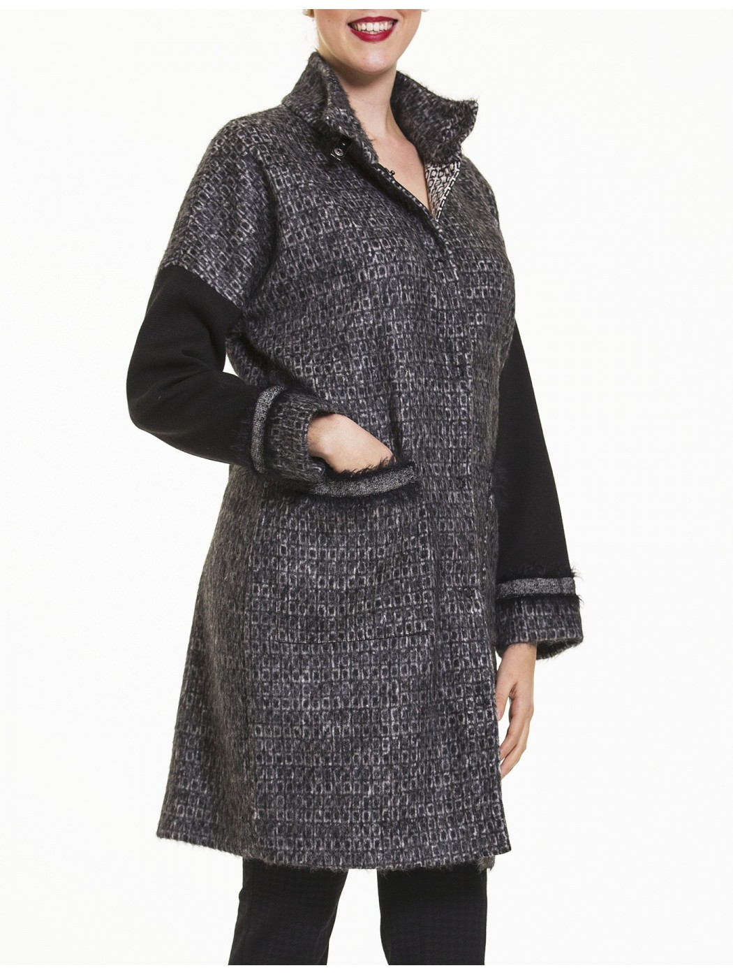 Cappotto mantella tweed Calaluna
