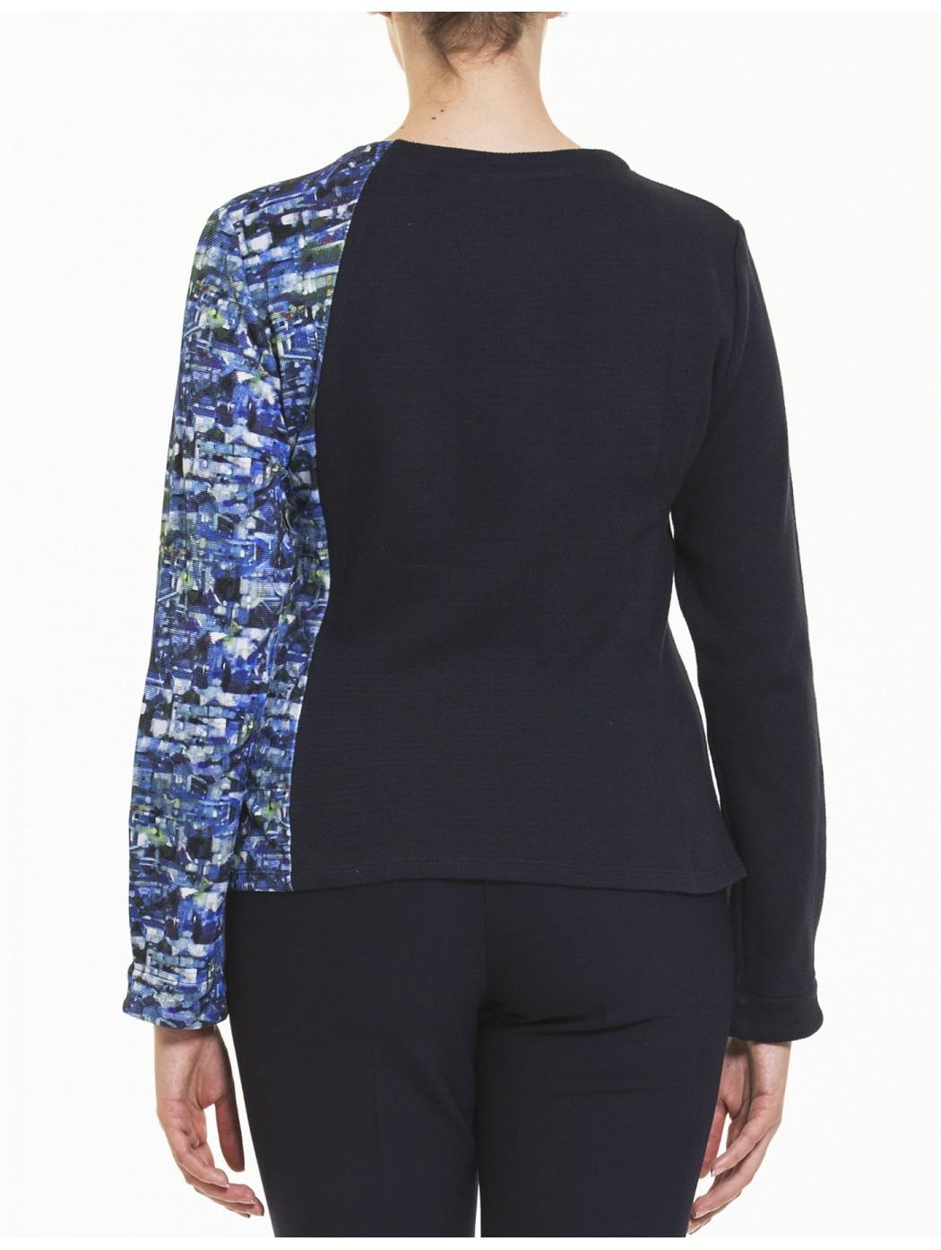 Blaue Jacke Seite Reißverschluss Aventures des toiles