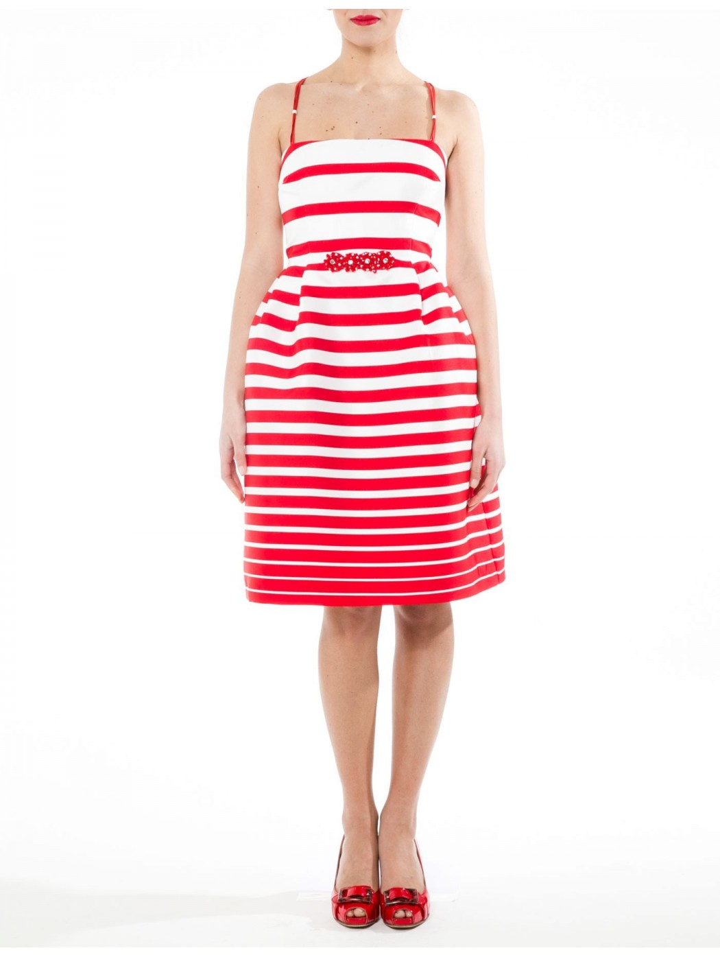 Sonia Pena striped skater dress
