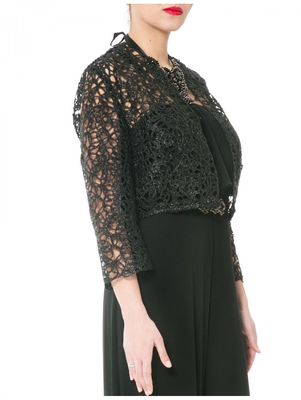 quality design 46ae4 8159e Online bolero di pizzo nero Sonia Pena 1170161 traforato lurex elegante