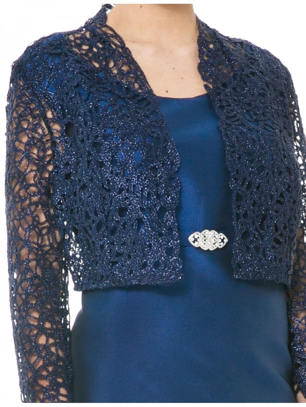los angeles 6673f c80b9 Online bolero di pizzo blu Sonia Pena 1170161 traforato lurex elegante