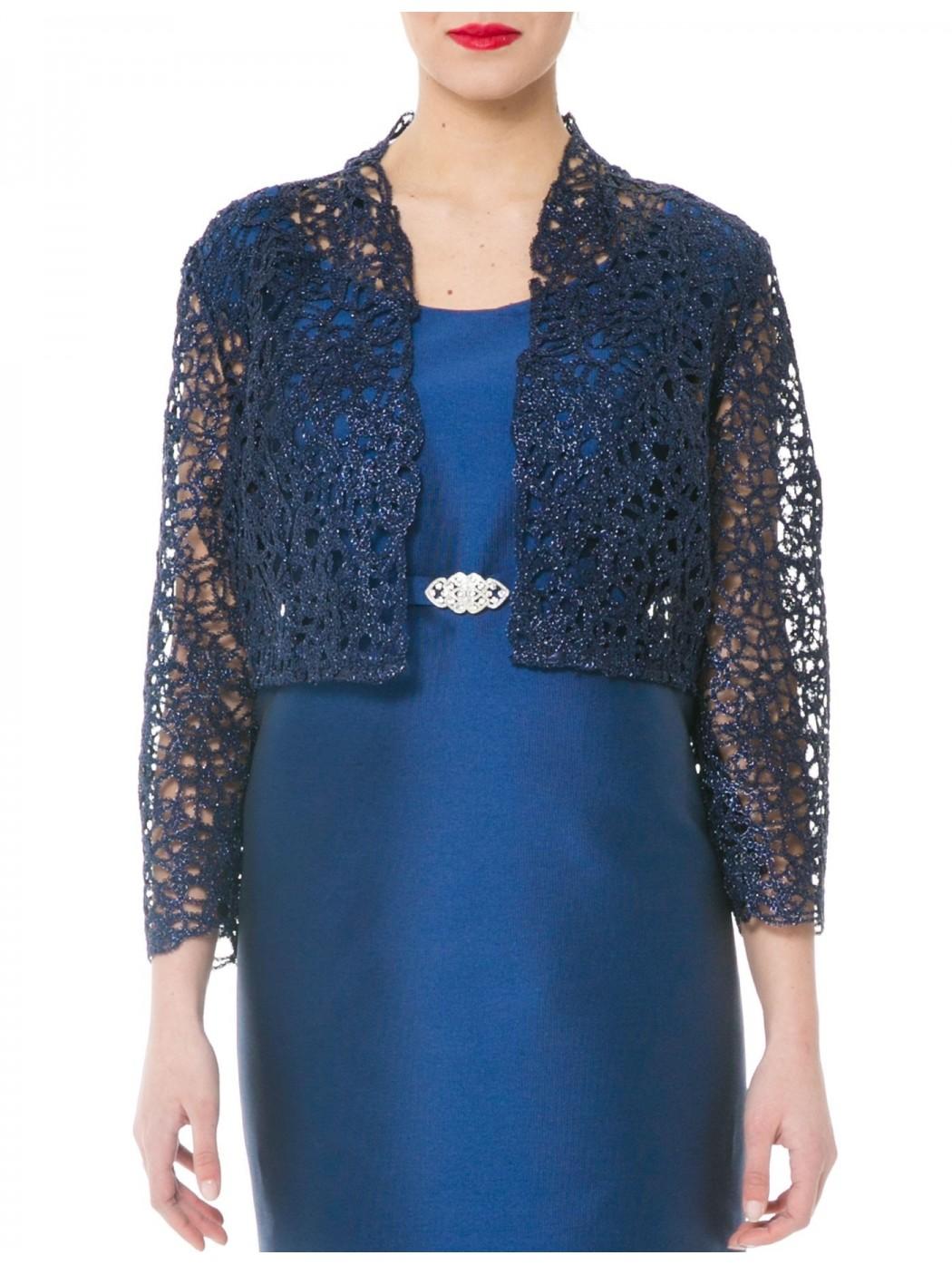 Sonia Pena 1170161 blue bolero shrug jacket