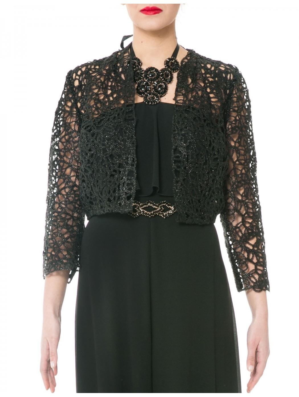 Sonia Pena 1170161 black bolero shrug jacket
