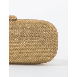Pochette borsa cerimonia da sera oro Anna Cecere