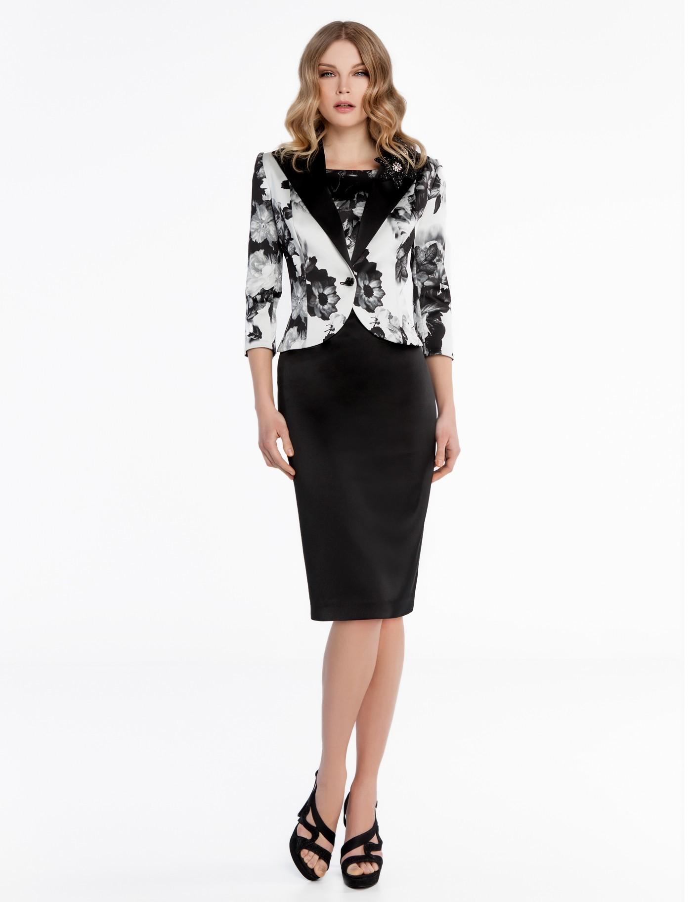 molto carino 464a6 ff8f4 Abito e giacca bianco e nero Sonia Pena - Rosapiuma On-Line Boutique