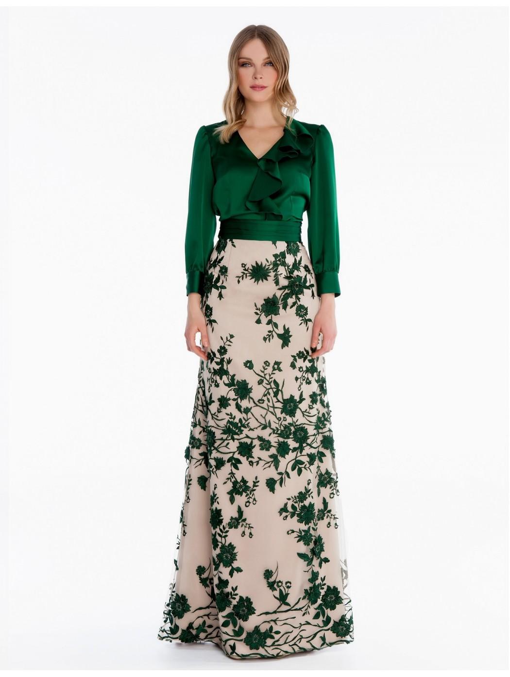 Blusa e gonna in pizzo verde Sonia Pena 1180028