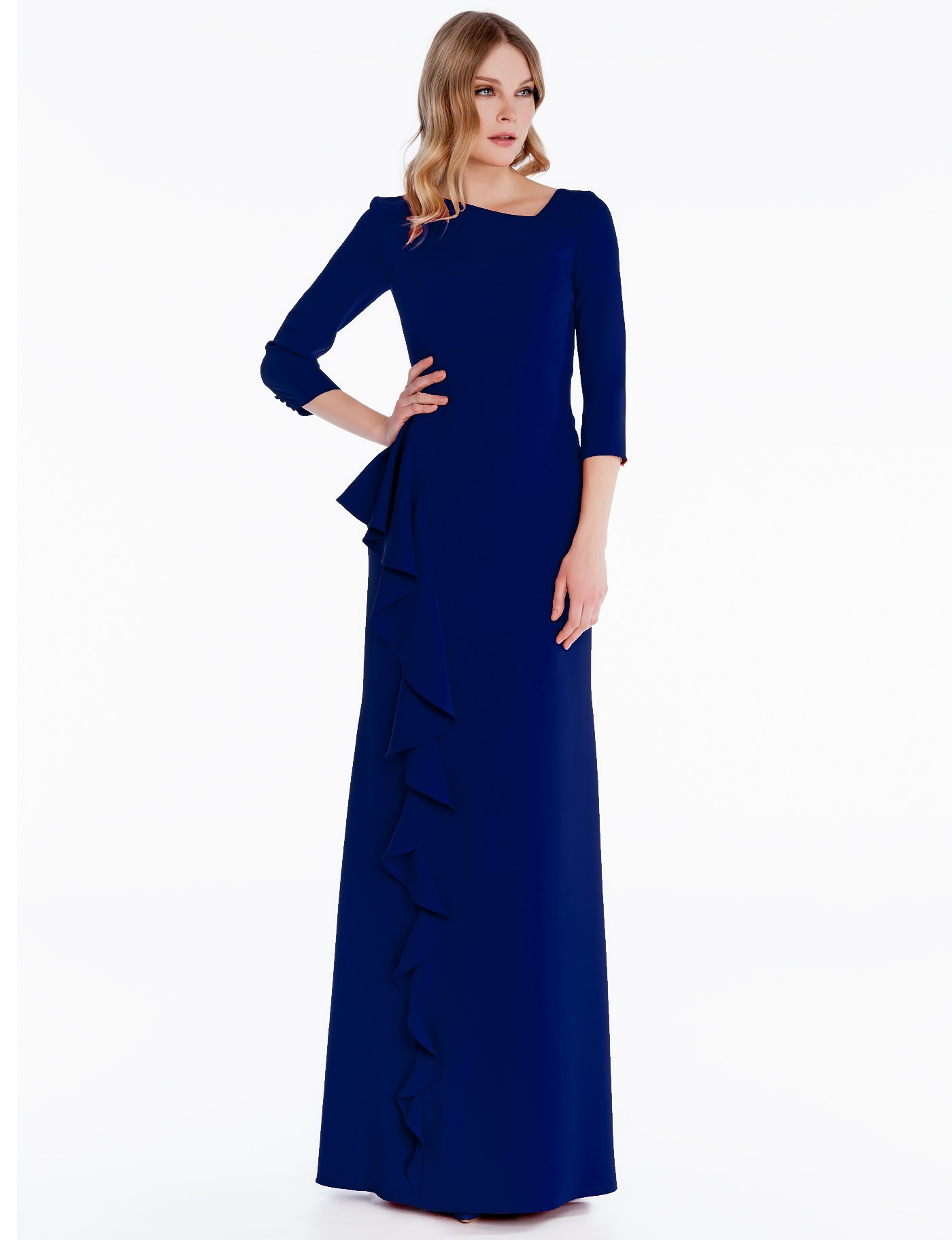 1fe981f1064c Abito lungo blu Sonia Pena 1180003 - Rosapiuma On-Line Boutique