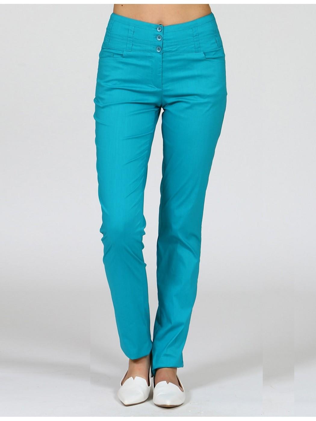 Pantalone verde cotone Aventures des toiles 938750