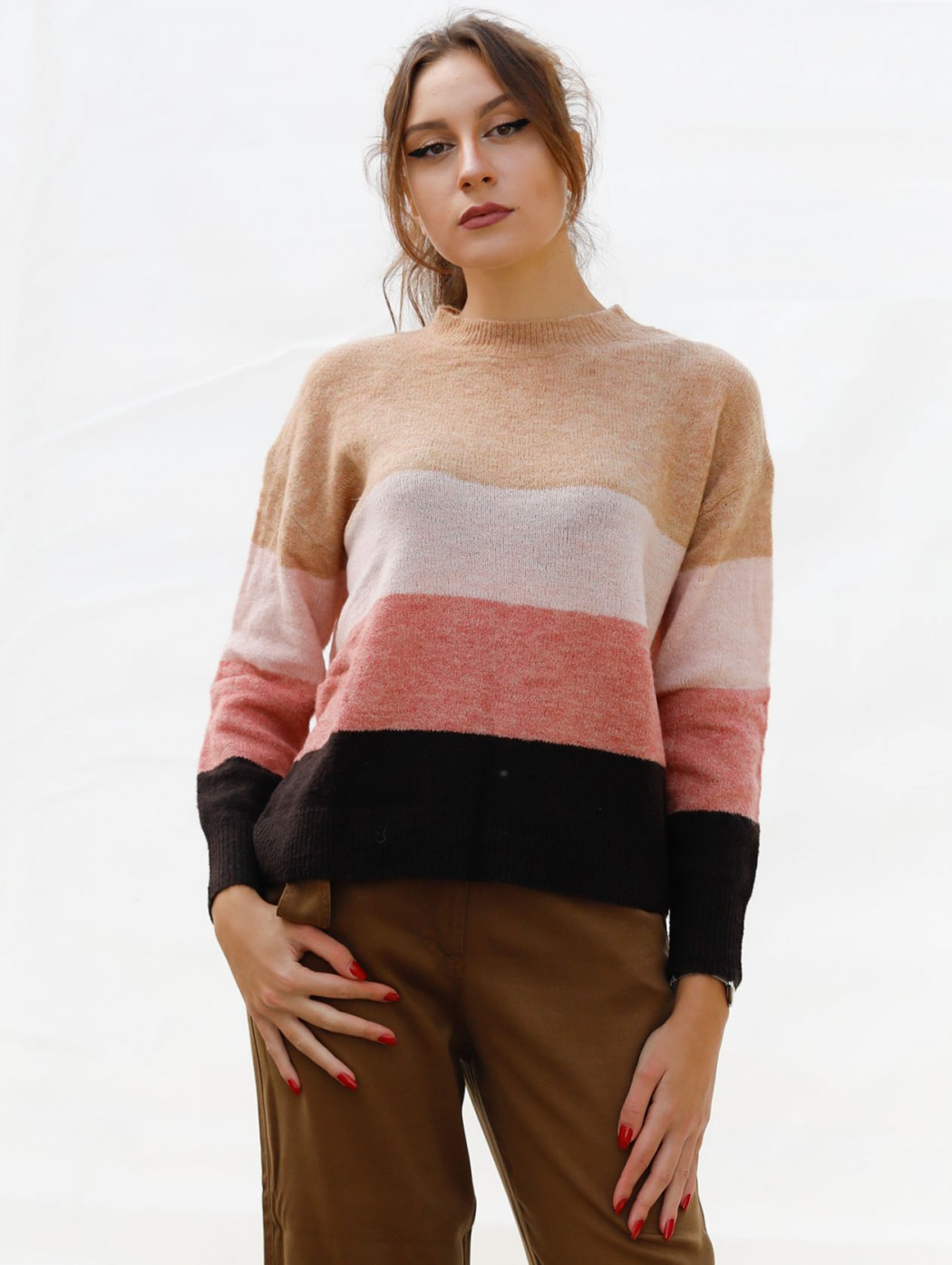 Paz Torras brown and pink...