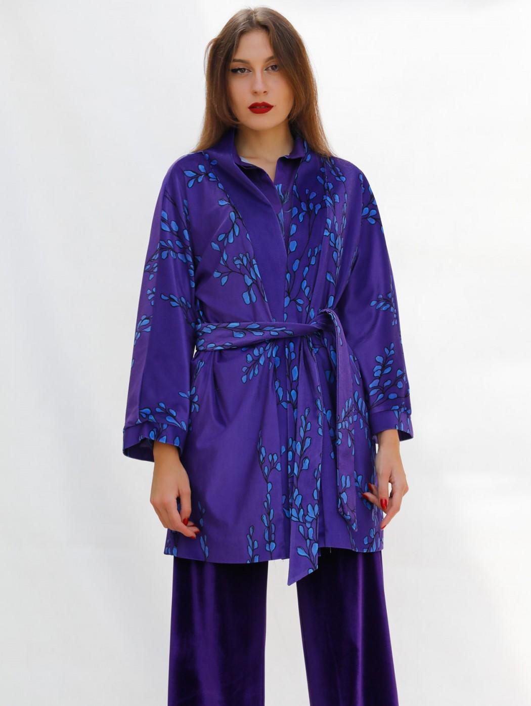 Purple velvet kimono duster...