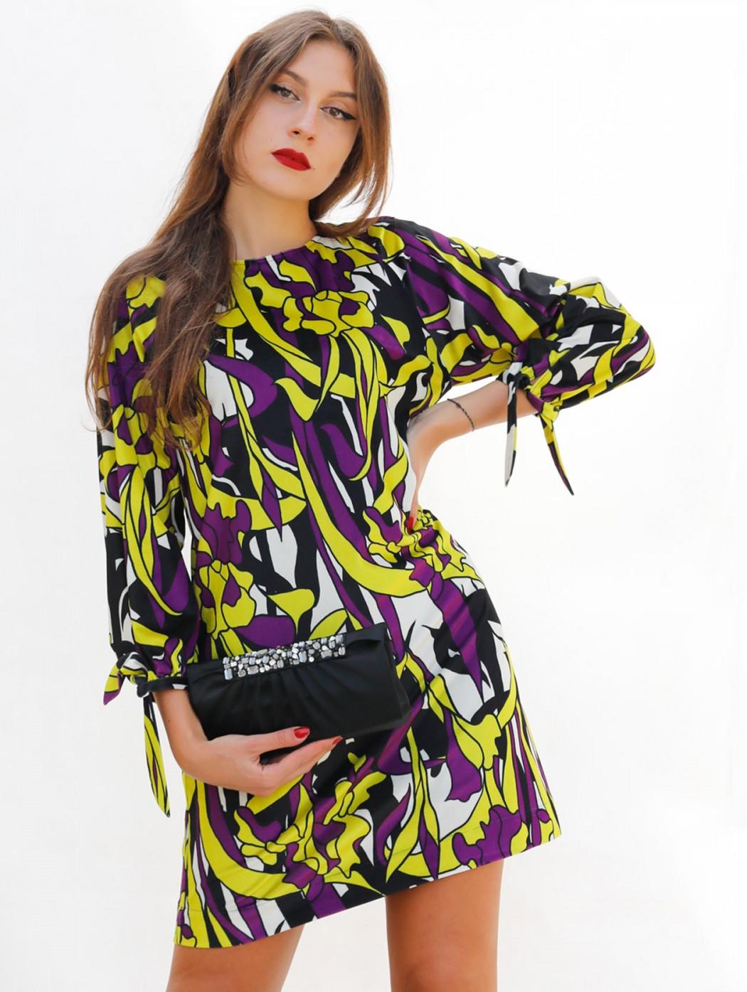 Yellow and purple velvet...