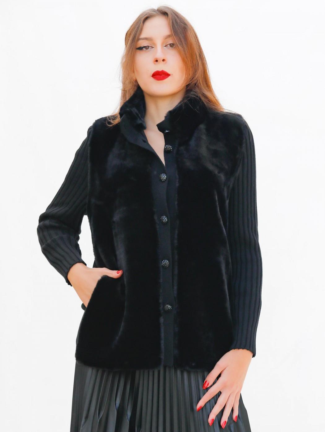 Black wool cardigan jacket...