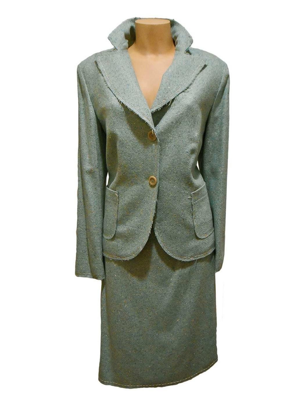 Шерстяной твидовый костюм Gui