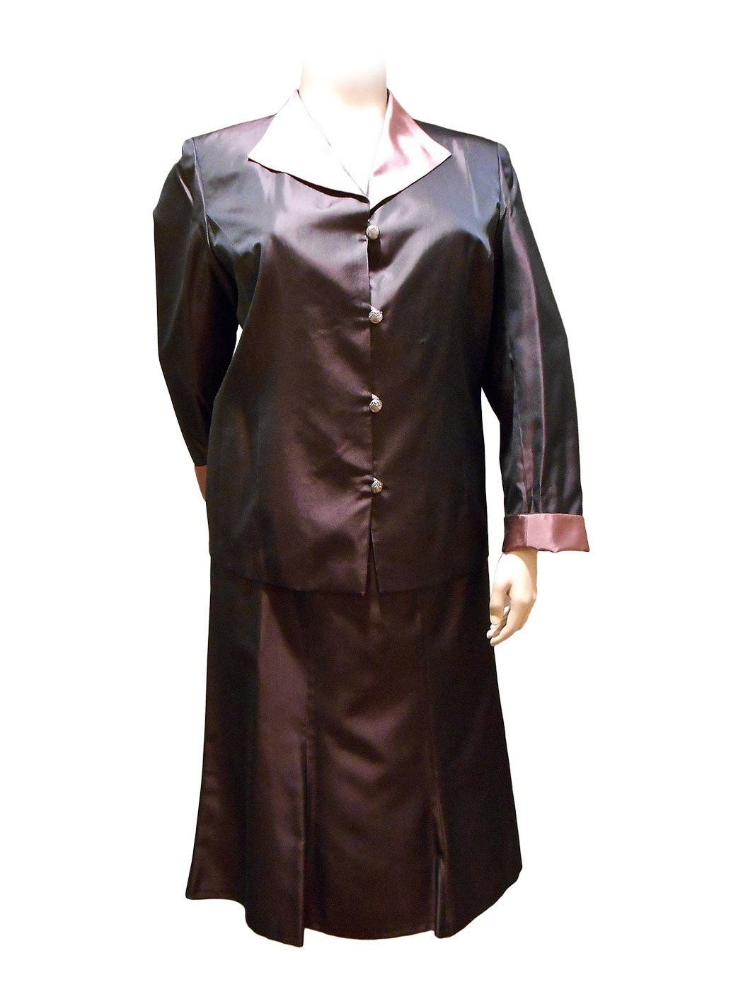 Atian organza skirt suit