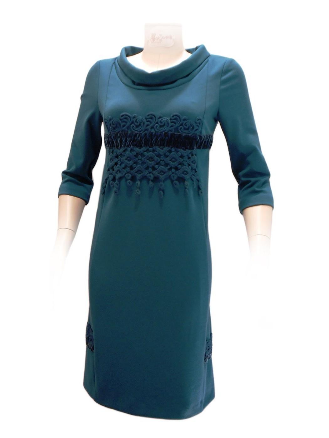 Green dress by Carmen Gherardi