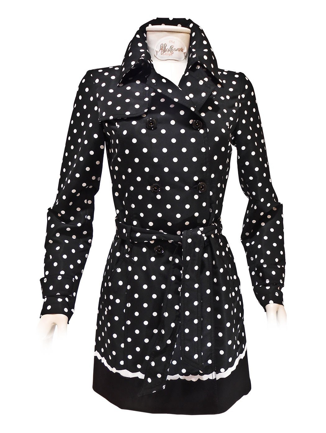 Polka dots long jacket