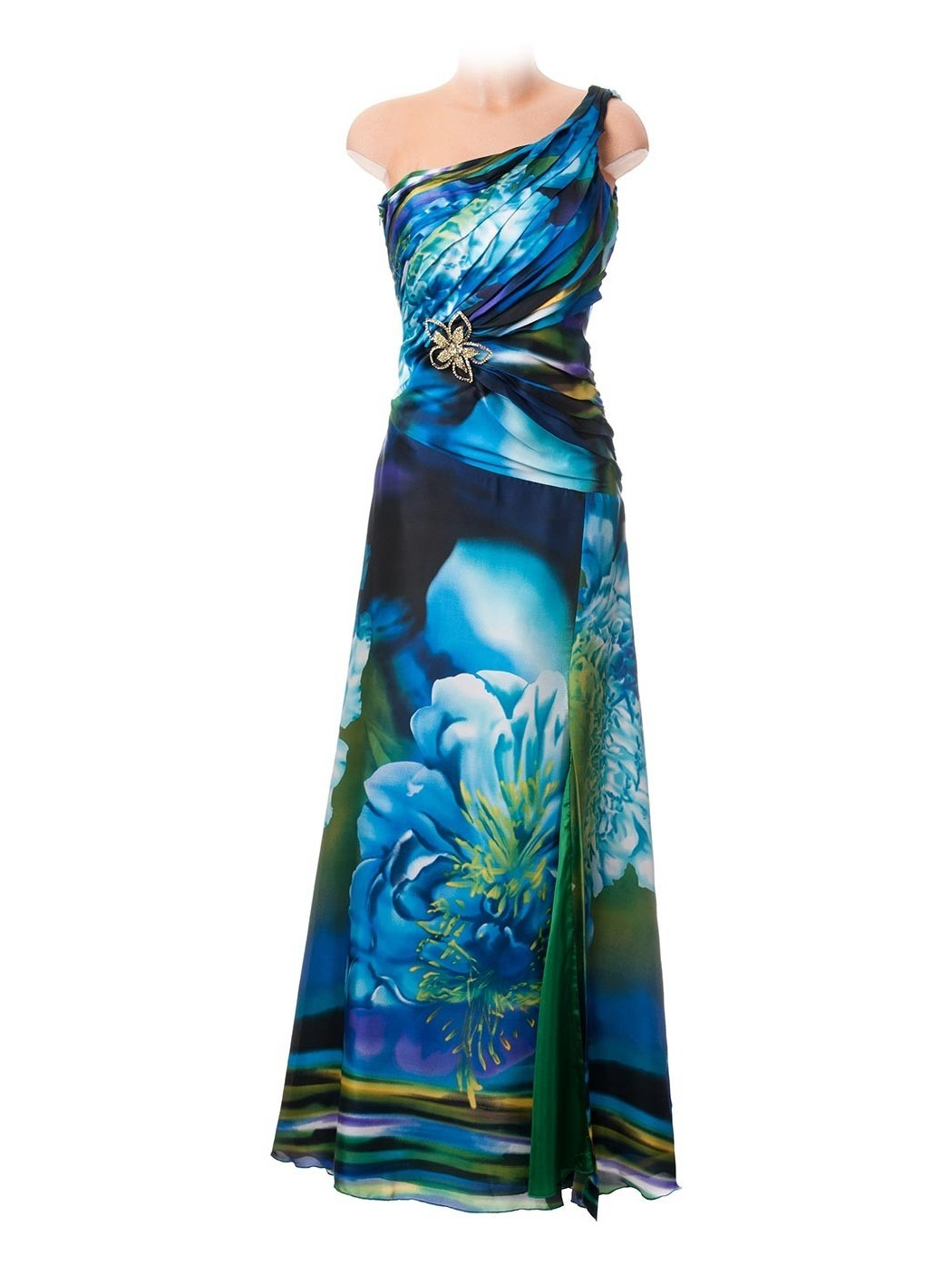 Sonia Peña one shoulder dress