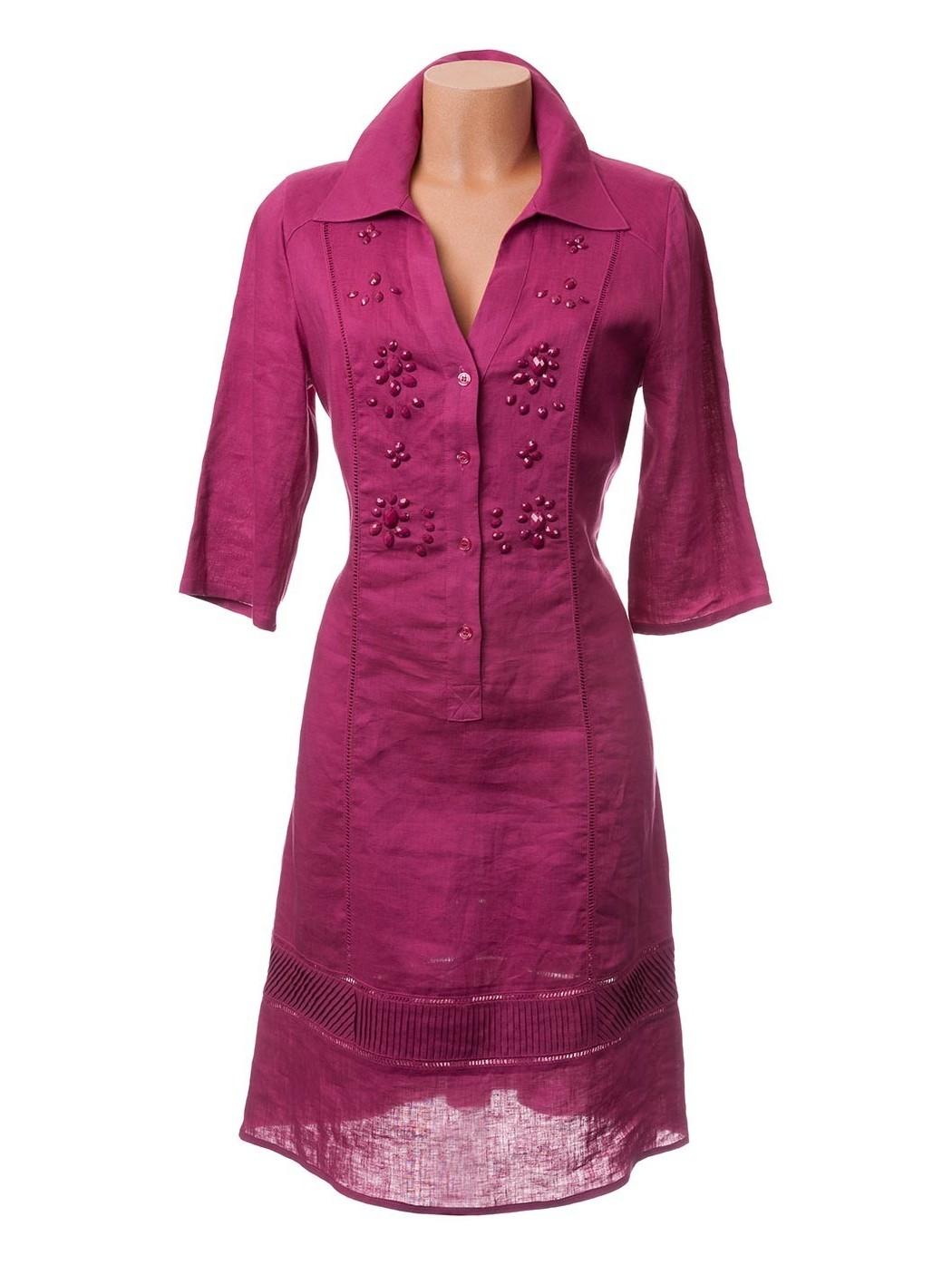 Fuchsia shirtdress