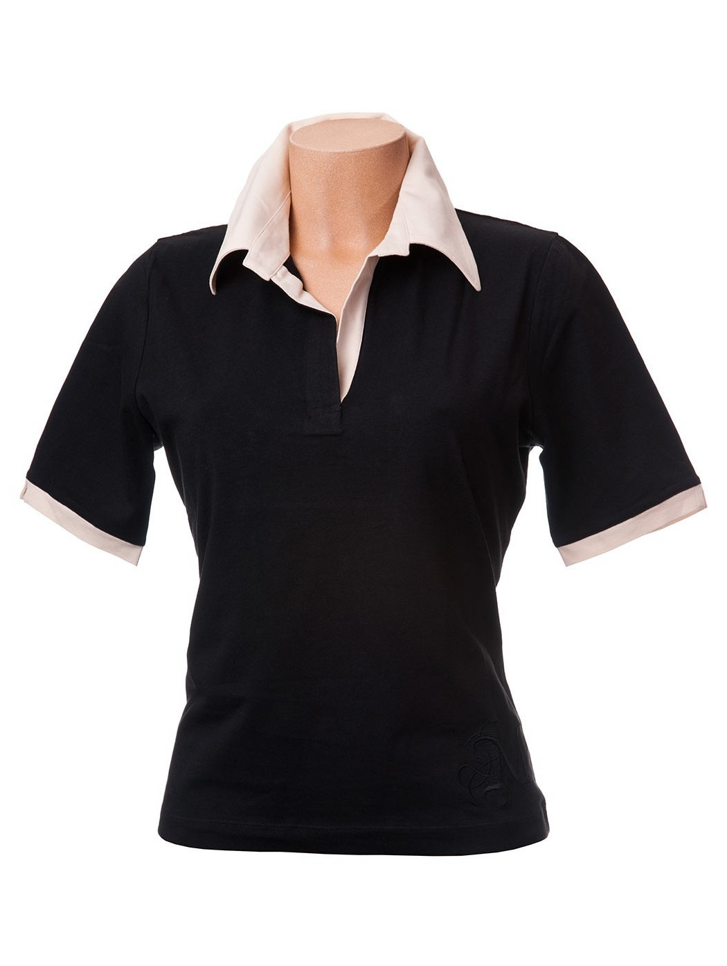 Two-coloured polo shirt
