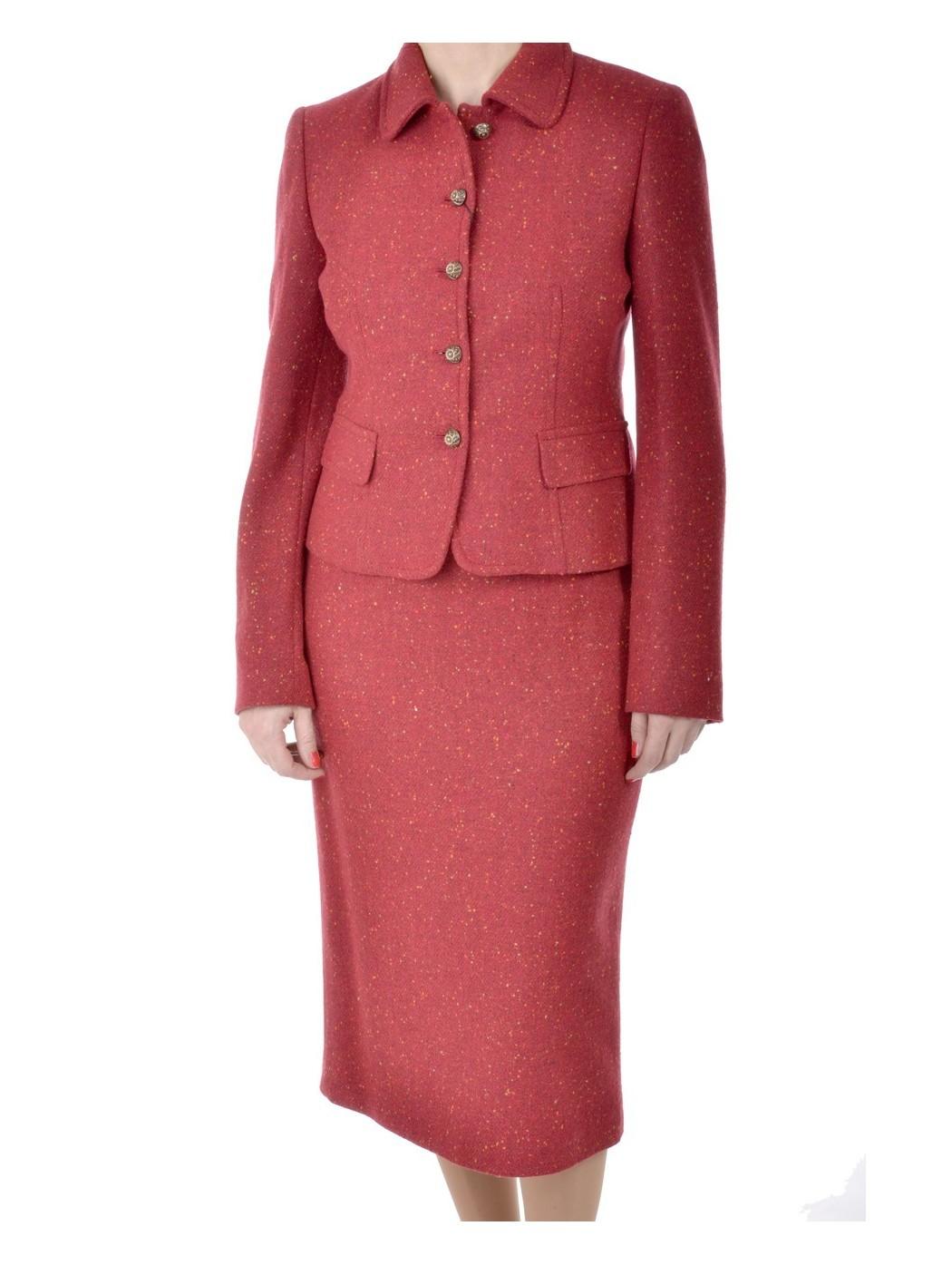 Hella красный твидовый костюм