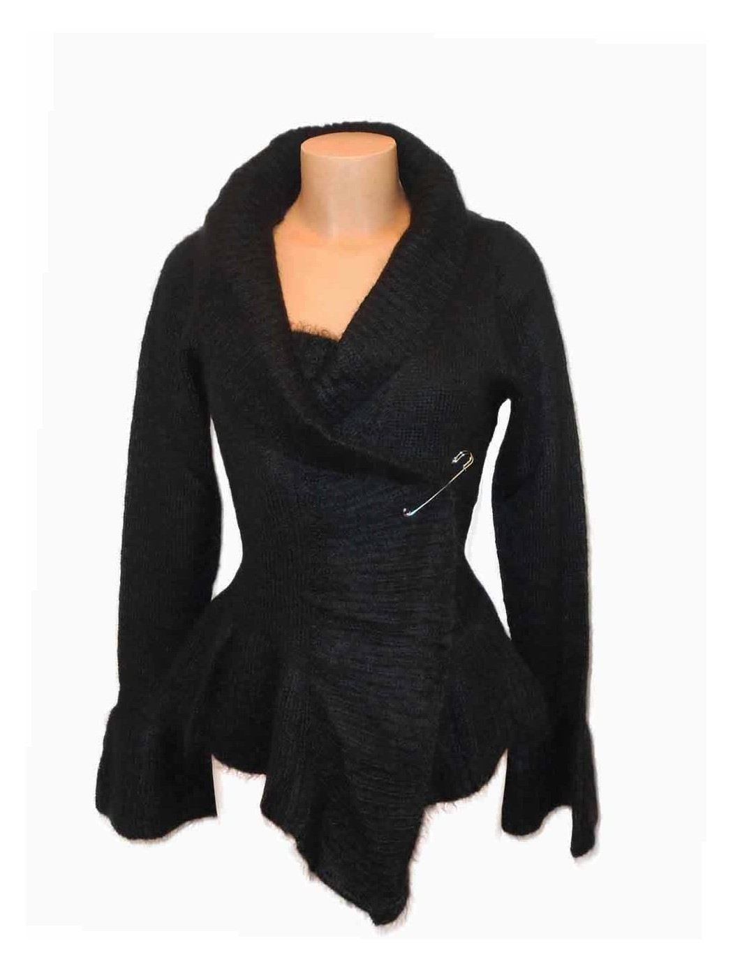 Black wool twin-set