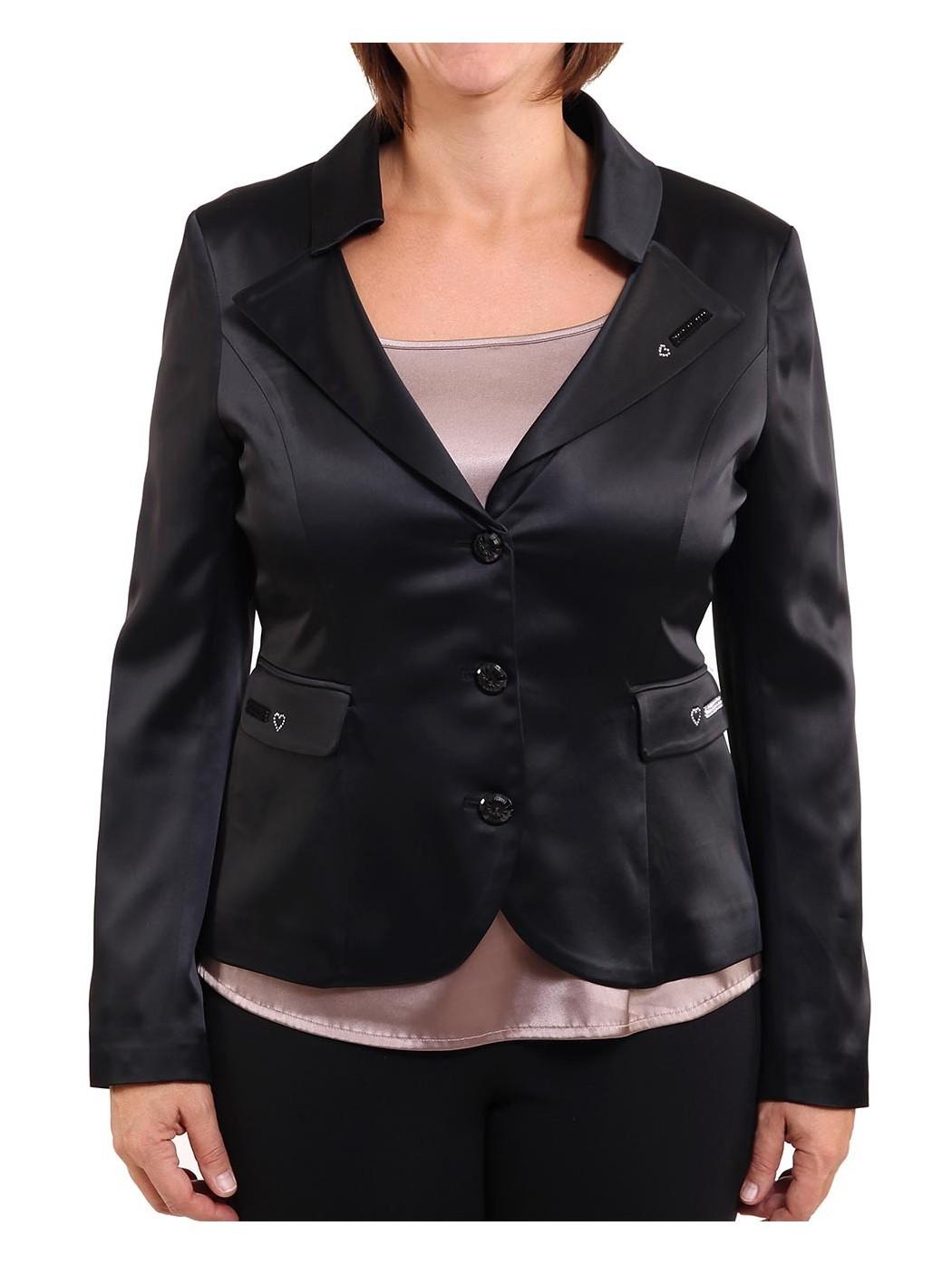 Черный атлас куртка