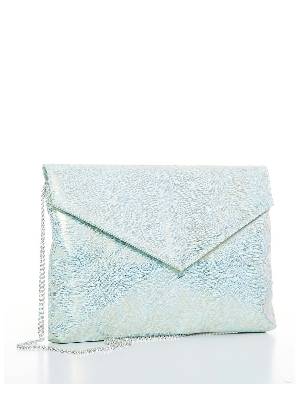 Shimmering clutch bag