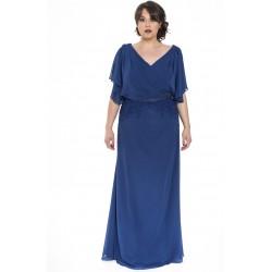 Sonia Peña royal blue long dress