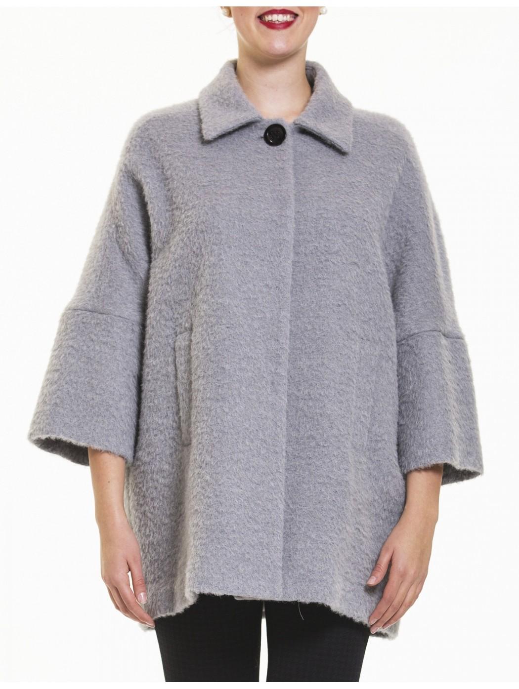 Cappotto grigio perla Laura Caponi Soft Couture