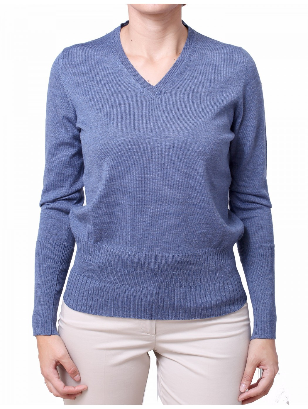 V-neck sweater with studs