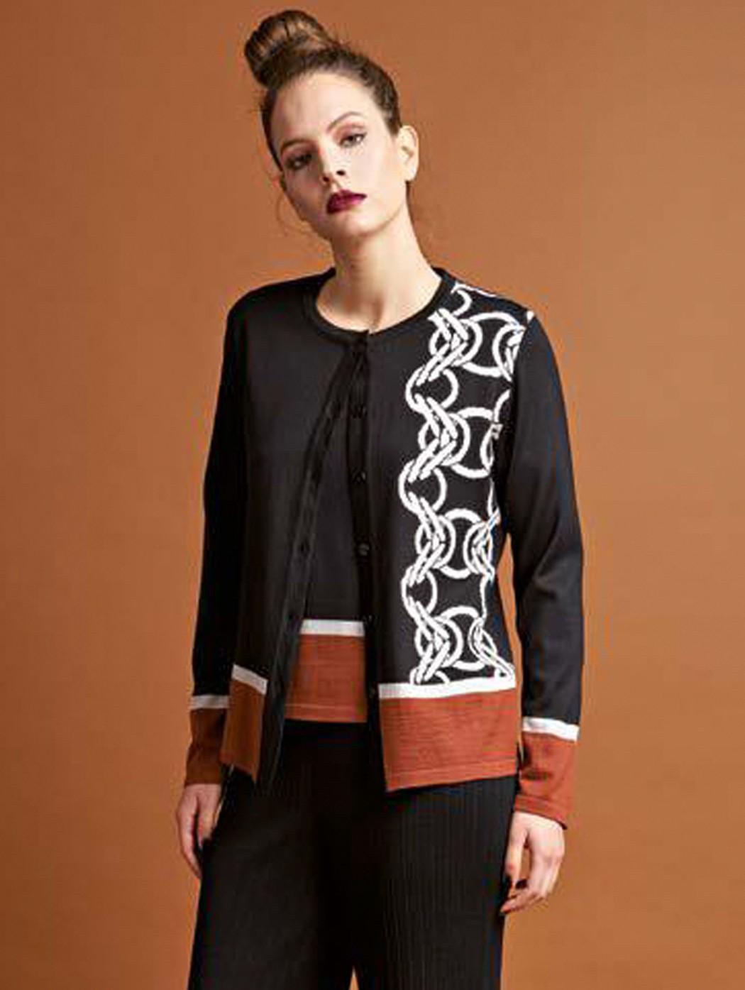 Twinset lana nero e marrone...
