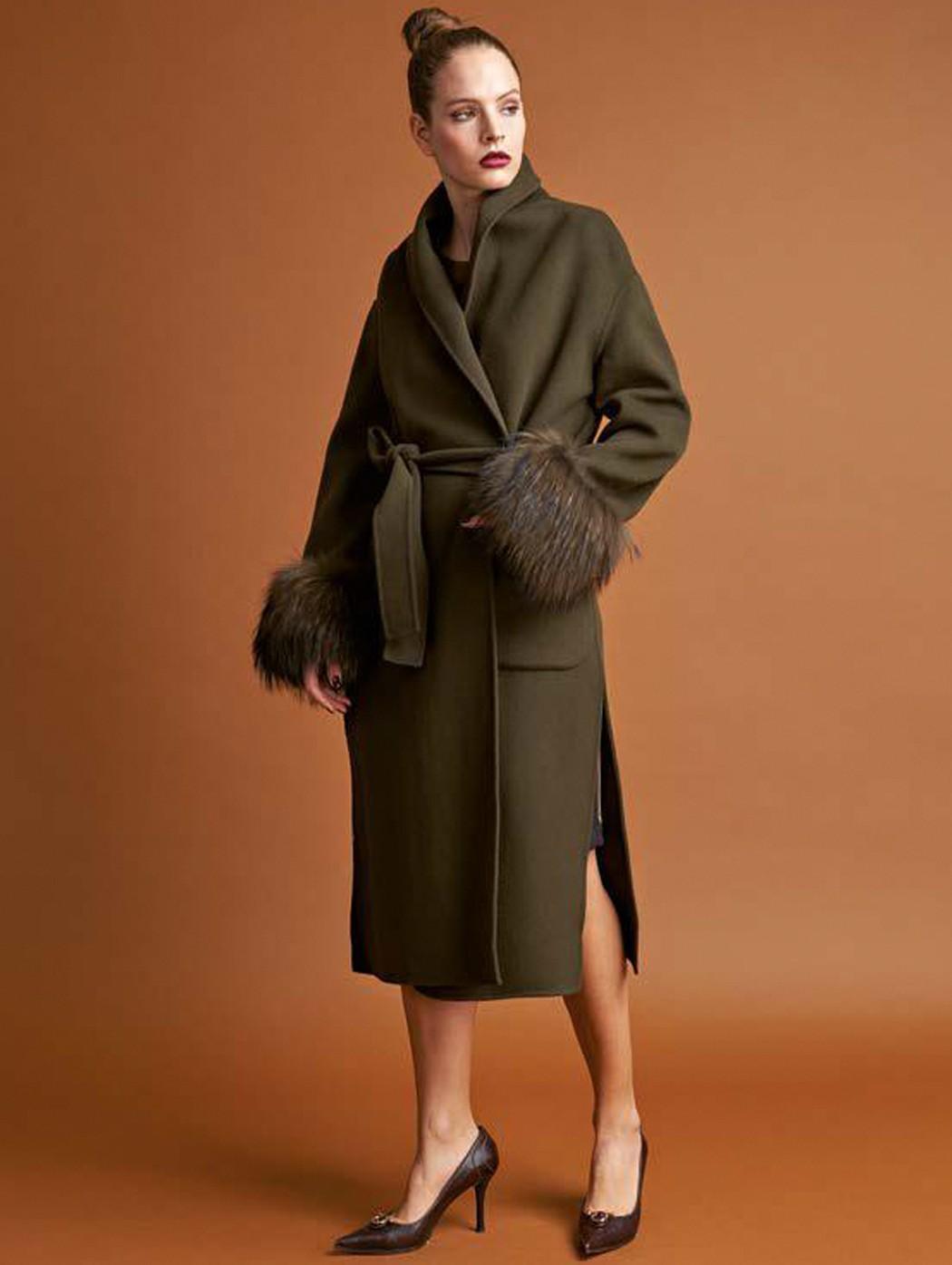 Cappotto vestaglia in lana...